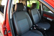 Фото 8 - Чехлы MW Brothers Hyundai Getz (2002-2011), темные + красная нить