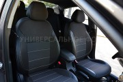 Фото 2 - Чехлы MW Brothers Hyundai Santa Fe IV (2018-н.д.), серая нить