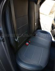 Фото 5 - Чехлы MW Brothers Hyundai Santa Fe IV (2018-н.д.), серая нить