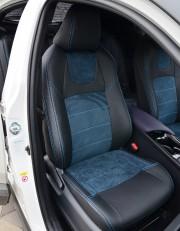 MW Brothers Toyota C-HR (2016-н.д.), синяя алькантара + синяя нить
