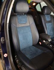 MW Brothers BMW 3 (E46) (1998-2007), синяя алькантара + синяя нить