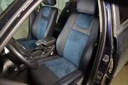 фото 5 - Чехлы MW Brothers BMW 3 (E46) (1998-2007), синяя алькантара + синяя нить