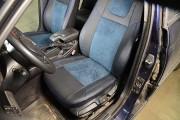 фото 6 - Чехлы MW Brothers BMW 3 (E46) (1998-2007), синяя алькантара + синяя нить