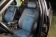 фото 7 - Чехлы MW Brothers BMW 3 (E46) (1998-2007), синяя алькантара + синяя нить