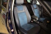 фото 8 - Чехлы MW Brothers BMW 3 (E46) (1998-2007), синяя алькантара + синяя нить