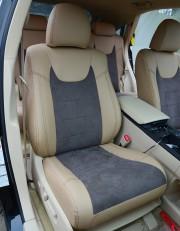 MW Brothers Lexus RX350 III (2009-2015), бежевые + серо-коричневая алькантара