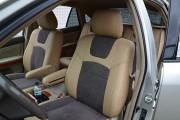 Фото 6 - Чехлы MW Brothers Lexus RX350 II (2003-2009), бежевые + серо-коричневая алькантара