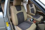 Фото 8 - Чехлы MW Brothers Lexus RX350 II (2003-2009), бежевые + серо-коричневая алькантара