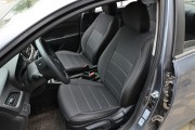 Фото 6 - Чехлы MW Brothers Hyundai Accent V sedan (2017-н.д.), серая нить