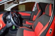 Фото 3 - Чехлы MW Brothers Toyota Yaris III (2010-2014), красные вставки + красная нить
