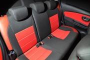 Фото 7 - Чехлы MW Brothers Toyota Yaris III (2010-2014), красные вставки + красная нить