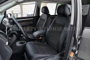 Фото 2 - Чехлы MW Brothers Honda Jazz III (Fit) (2013-2020), серая нить