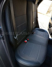 Фото 5 - Чехлы MW Brothers Honda Civic 8 4D (2006-2012), серая нить