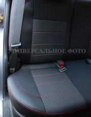 Фото 4 - Чехлы MW Brothers Toyota Prius + (V) (2011-2017), красная нить