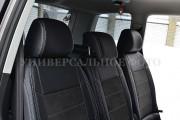 фото 5 - Чехлы MW Brothers Toyota Prius + (V) (2011-2017), серая нить