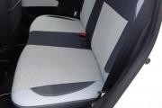 Фото 6 - Чехлы MW Brothers Toyota Aygo I (2005-2014), светлые вставки + серая нить