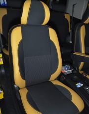 MW Brothers Toyota FJ Cruiser (2006-2014), бежевые вставки + оранж нить