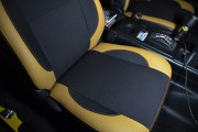 Фото 8 - Чехлы MW Brothers Toyota FJ Cruiser (2006-2014), бежевые вставки + оранж нить