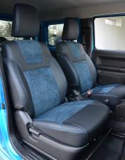 MW Brothers Suzuki Jimny IV (2018-н.д.), синяя Алькантара + синяя нить