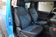 фото 2 - Чехлы MW Brothers Suzuki Jimny IV (2018-н.д.), синяя Алькантара + синяя нить