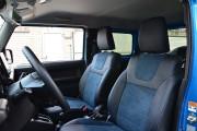 фото 8 - Чехлы MW Brothers Suzuki Jimny IV (2018-н.д.), синяя Алькантара + синяя нить