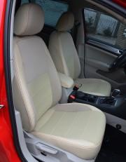 MW Brothers Volkswagen Golf VII Hatchback (2013-н.д.), полностью бежевые + красная нить
