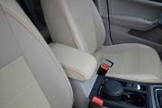 Фото 5 - Чехлы MW Brothers Volkswagen Golf VII Hatchback (2013-н.д.), полностью бежевые + красная нить