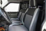 Фото 2 - Чехлы MW Brothers Volkswagen Transporter T4 (1990-2003) грузовой (1+2), светлые вставки + серая нить
