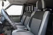 Фото 8 - Чехлы MW Brothers Volkswagen Transporter T4 (1990-2003) грузовой (1+2), светлые вставки + серая нить