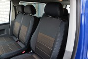Фото 2 - Чехлы MW Brothers Volkswagen T5 (2000-2010) грузовой (1+2), серая нить