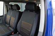 Фото 6 - Чехлы MW Brothers Volkswagen T5 (2000-2010) грузовой (1+2), серая нить