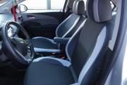 Фото 6 - Чехлы MW Brothers Chevrolet Aveo T300 (2012-н.д.), светлые вставки + серая нить