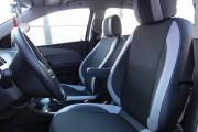 Фото 7 - Чехлы MW Brothers Chevrolet Aveo T300 (2012-н.д.), светлые вставки + серая нить