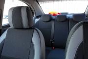 Фото 8 - Чехлы MW Brothers Chevrolet Aveo T300 (2012-н.д.), светлые вставки + серая нить