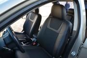 Фото 2 - Чехлы MW Brothers Mitsubishi Lancer X 2L (2007-2011), серая нить