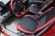 Фото 6 - Чехлы MW Brothers Chevrolet Lacetti hatchback (wagon) (2002-н.д.), красные вставки+красная нить