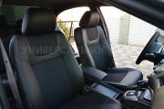 фото 2 - Чехлы MW Brothers Honda Civic 9 4D (2011-2016), серая нить