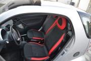 Фото 3 - Чехлы MW Brothers Mercedes-Benz Smart Fortwo I (450) (1998-2007), красные вставки + красная нить