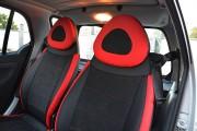 Фото 5 - Чехлы MW Brothers Mercedes-Benz Smart Fortwo I (450) (1998-2007), красные вставки + красная нить