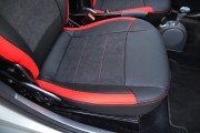 Фото 7 - Чехлы MW Brothers Mercedes-Benz Smart Fortwo I (450) (1998-2007), красные вставки + красная нить