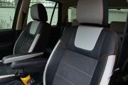 Фото 3 - Чехлы MW Brothers Land Rover Freelander 2 (2006-2014), светлые вставки + оранж нить