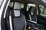 Фото 7 - Чехлы MW Brothers Land Rover Freelander 2 (2006-2014), светлые вставки + оранж нить