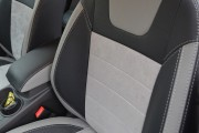 фото 2 - Чехлы MW Brothers Ford Focus III (2011-2014), светлые вставки + серая нить