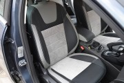 Фото 3 - Чехлы MW Brothers Ford Focus III (2011-2014), светлые вставки + серая нить