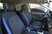 Фото 6 - Чехлы MW Brothers Hyundai Elantra IV (HD) (2006-2011), синие вставки + синяя нить