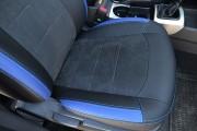 Фото 7 - Чехлы MW Brothers Hyundai Elantra IV (HD) (2006-2011), синие вставки + синяя нить