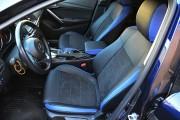 Фото 3 - Чехлы MW Brothers Mazda 6 III (2013-2018), синие вставки + синяя нить