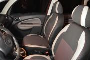 фото 2 - Чехлы MW Brothers Citroen C3 Picasso (2009-н.д.), светлые вставки + красная нить