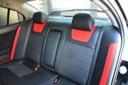 Фото 4 - Чехлы MW Brothers Mitsubishi Lancer X 1,5L (2007-2011), красные вставки + красная нить