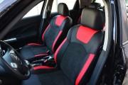 Фото 2 - Чехлы MW Brothers Nissan Juke I (2011-2019), красные вставки + красная нить